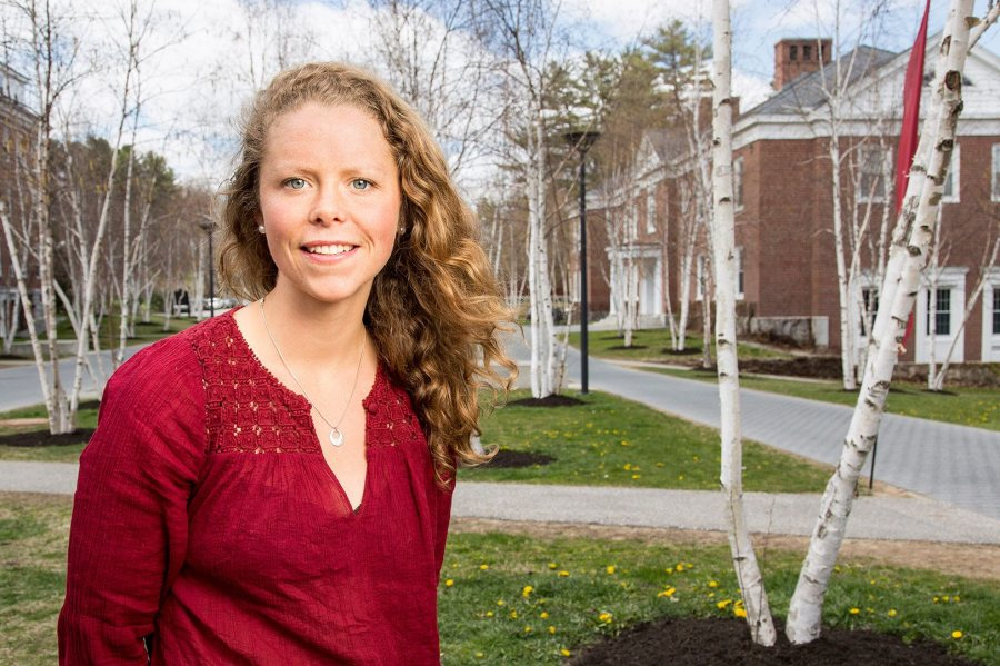 Britta Clark '16, a double major in environmental studies and philosophy from Ripton, Vt., was awarded a 2016–17 Fulbright Study/Research grant to study philosophy in New Zealand. (Josh Kuckens/Bates College)