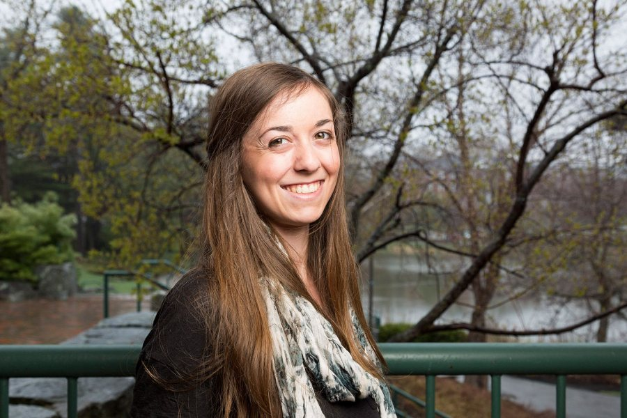 Rebecca Schwartz '16, an American cultural studies major from West Hartford, Conn., was awarded a 2016–17 Fulbright English Teaching Assistantship for the Czech Republic. (Josh Kuckens/Bates College)
