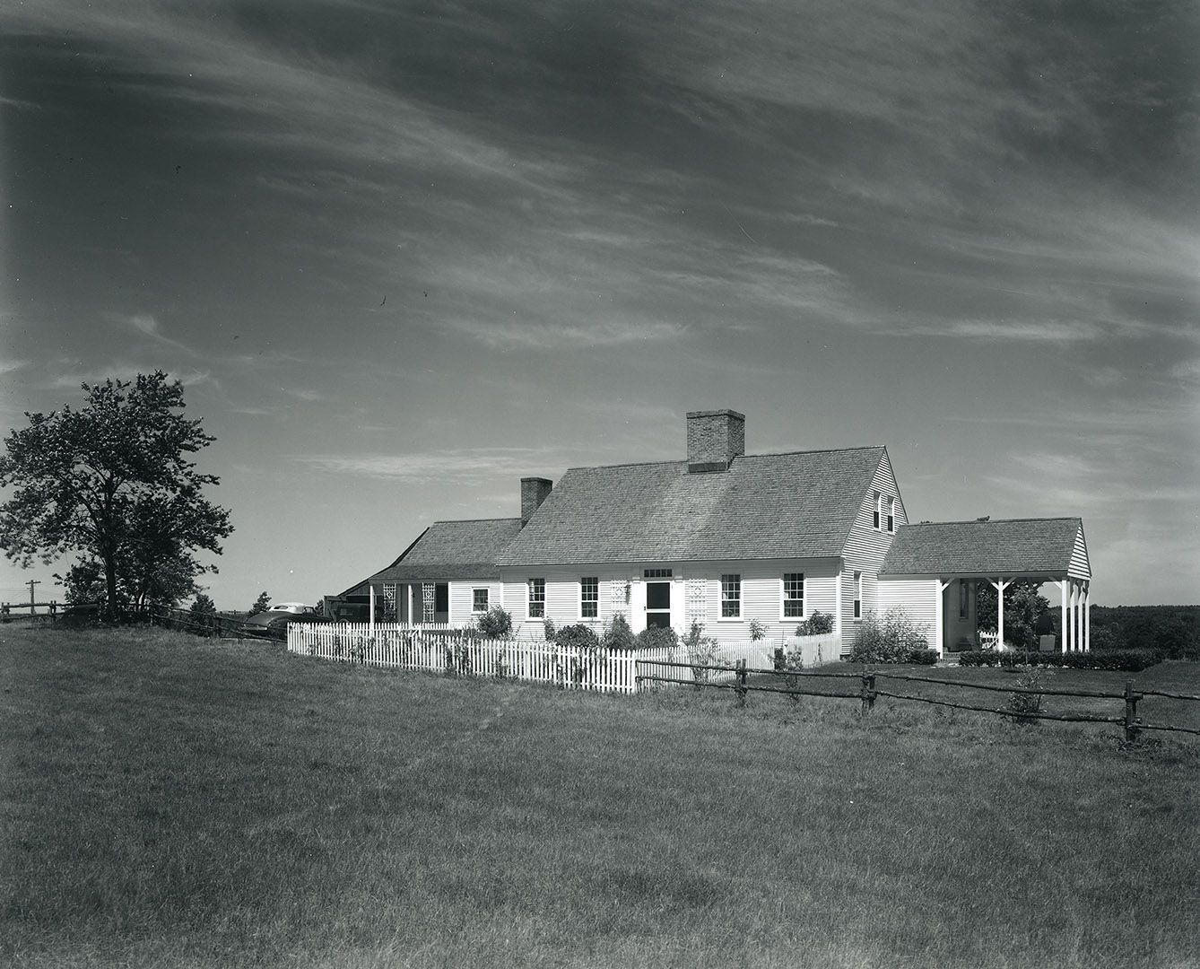 An undated photo of the family farm of novelist Gladys Hasty Carroll, Class of 1925, in the Dunnybrook community of South Berwick. Many of Carroll's novels described life in this farming community. (George French photo / Maine State Archives)
