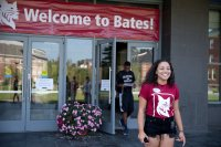 Opening Day 2015 , the first day of Orientation for the Class of 2019, included a First Generation to College Student and Parent Panel Discussion in Commons. Programming for First Gen students has been expanded this year. (Phyllis Graber Jensen / Bates College)