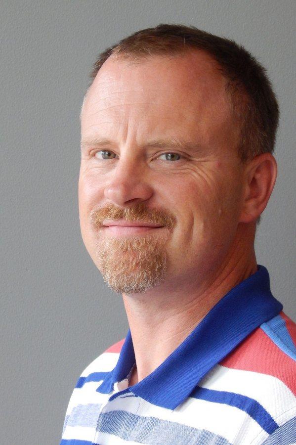 Bates Project Manager Chris Streifel. (Doug Hubley/Bates College)