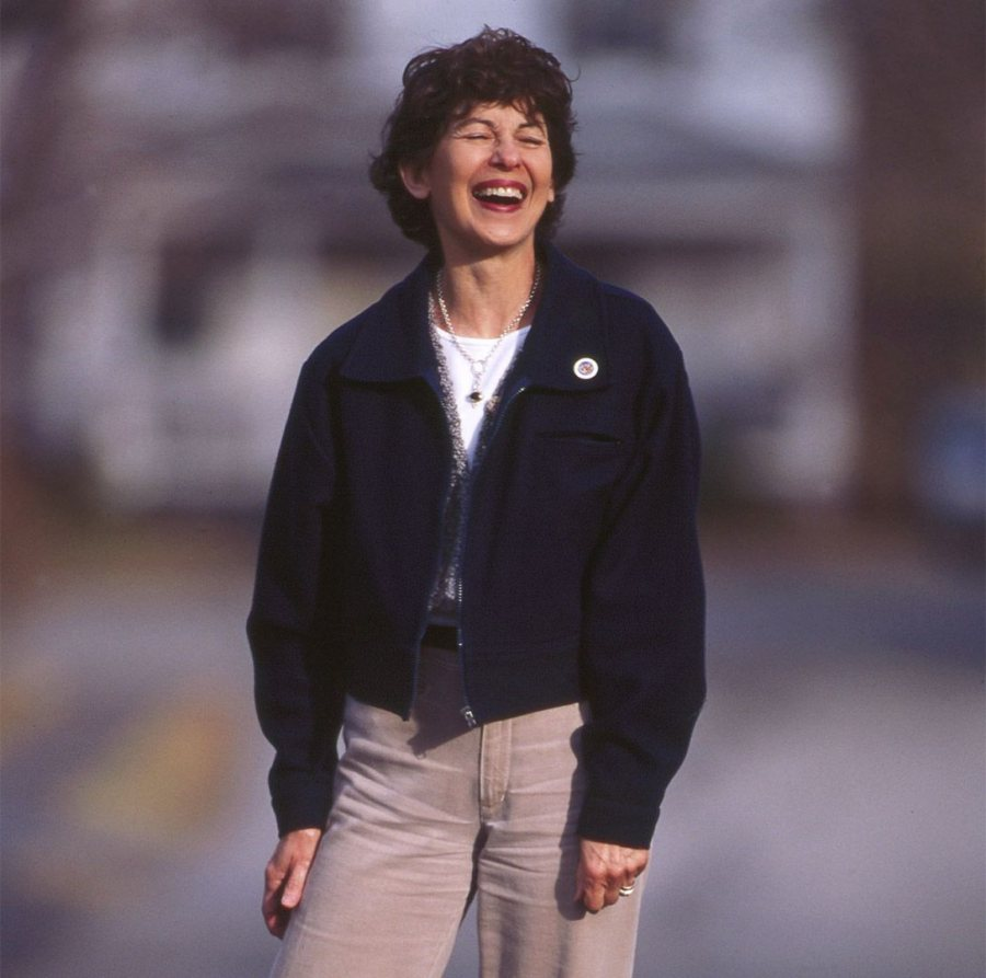 Marcy Plavin, photographed near her home on Mountain Avenue in fall 1998 by Phyllis Graber Jensen.