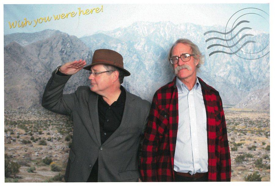 Bates College Museum of Art Director Dan Mills, left, and Charles Dana Professor of Anthropology Loring Danforth.