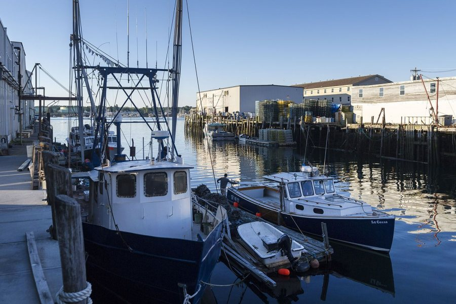 Moretti's shoreland operation is on Custom House Wharf on Portland's working waterfront.
