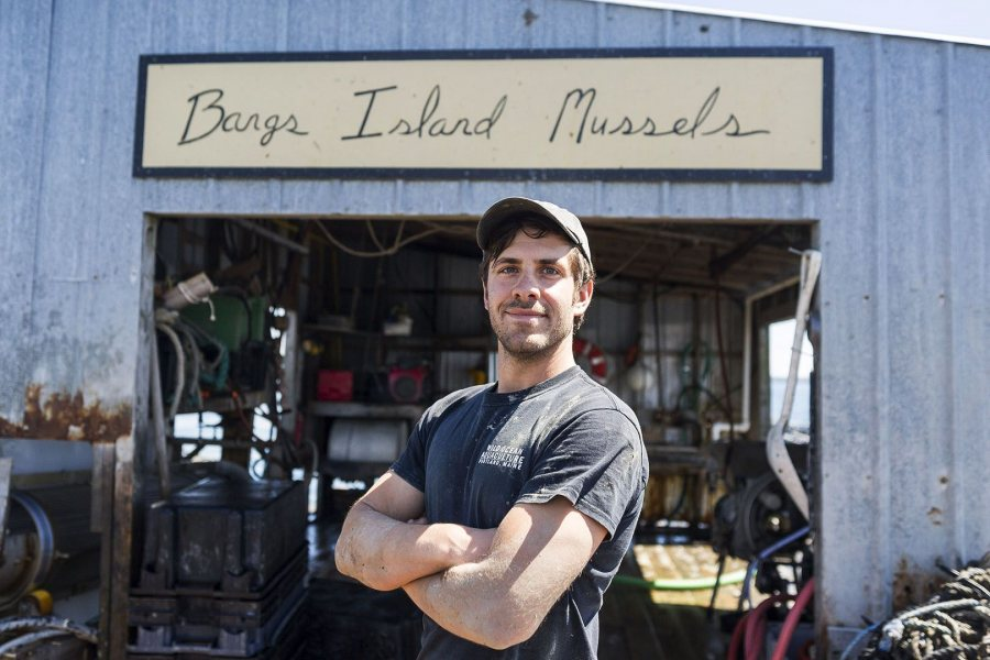 Matthew Moretti '06, president of Bangs Island Mussels and Wild Ocean