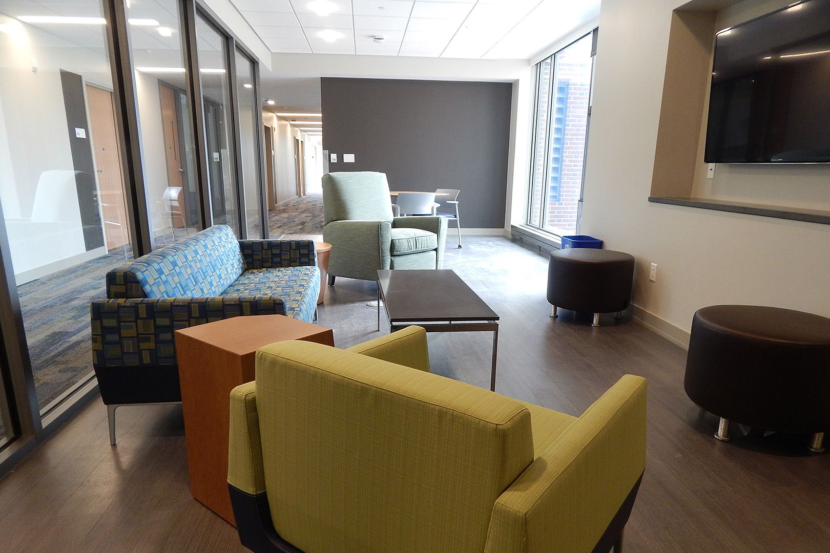 Taken In August Shortly Before Students Moved Into Kalperis Hall This Lounge Contains Mixed Furniture