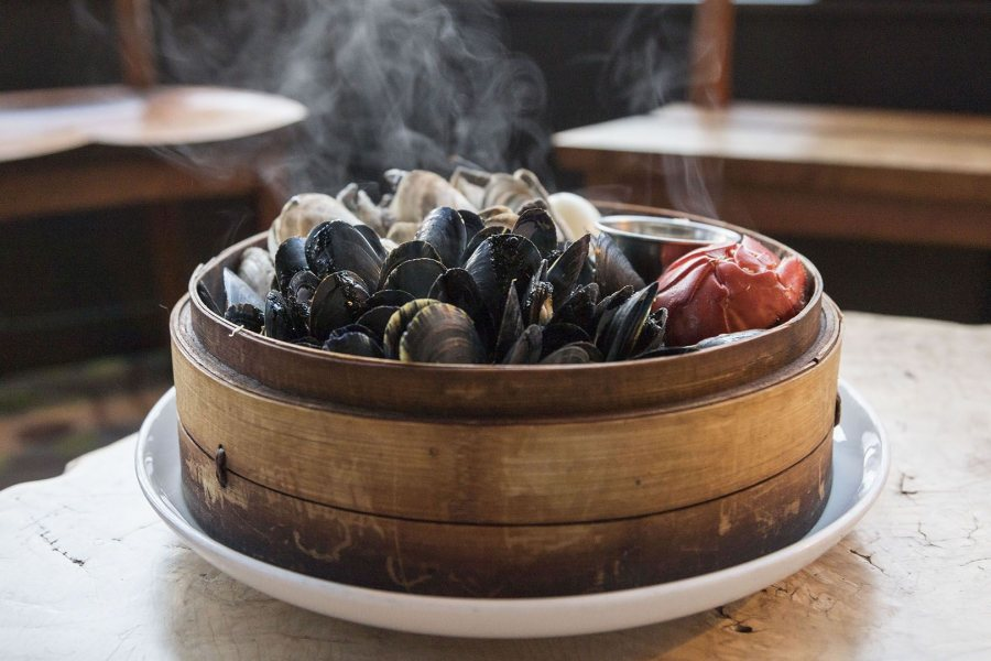 Mussels from Bangs Island are featured in several plates at Eventide and exemplify a commitment to the local food economy.