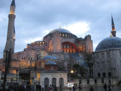 The Hagia Sophia in Istanbul, Turkey. (Photograph by Doug Van Hoewyk '98)