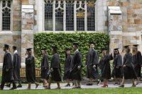 Bates' 151 Commencement takes place on May 28, 2017. (Phyllis Graber Jensen/Bates College)