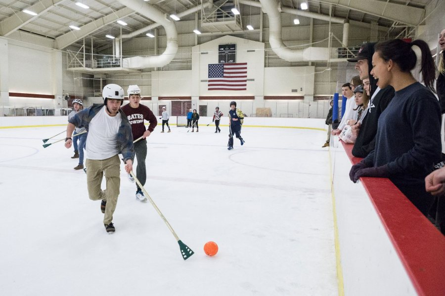 Bates At Night Intramural Broomball News Bates College