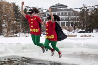 Students flock to Lake Andrews for the annual Puddle Jump on Friday, Jan. 20 2017.