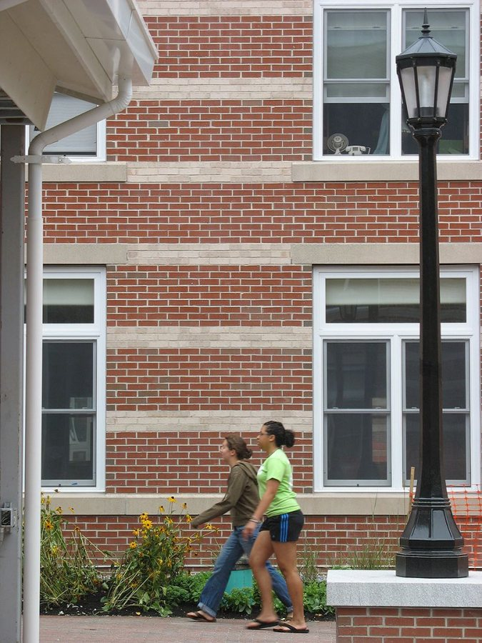 Students at their new digs. (Doug Hubley/Bates College)