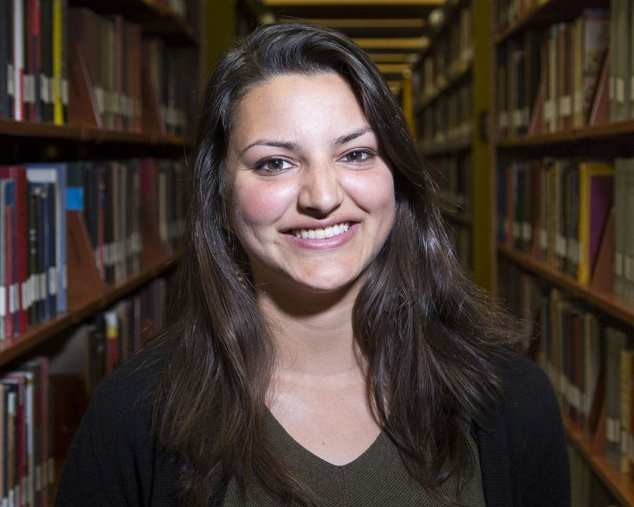 Tara Das '16 of Boston, a politics and French double major, received an English Teaching Assistant Award for Morocco. (Josh Kuckens/Bates College)