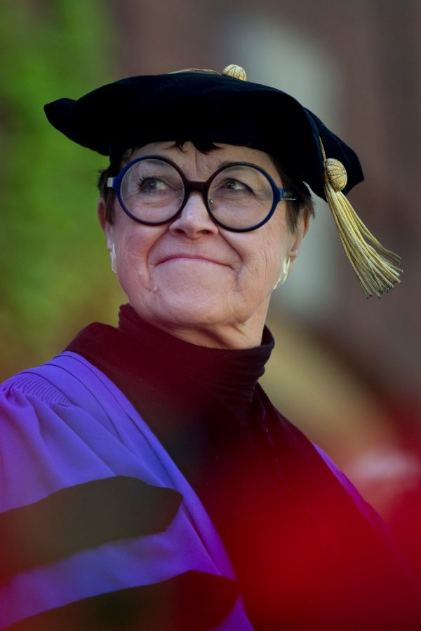 Wanda Corn '62, one of the leading U.S. art historians, was one of four honorary degree recipients at Commencement 2017. (Phyllis Graber Jensen/Bates College)