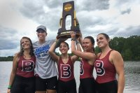 The 2017 Bates Fund includes a college-record $731,674 from Friends of Bates Athletics, a fund that provides support for varsity and club teams at Bates, including the national championship women's rowing team. (Aaron Morse/Bates College)