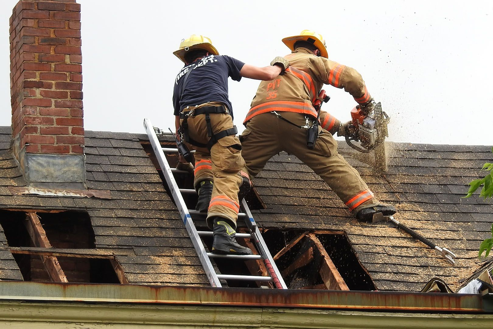 how bates helps lewiston firefighters do their dangerous