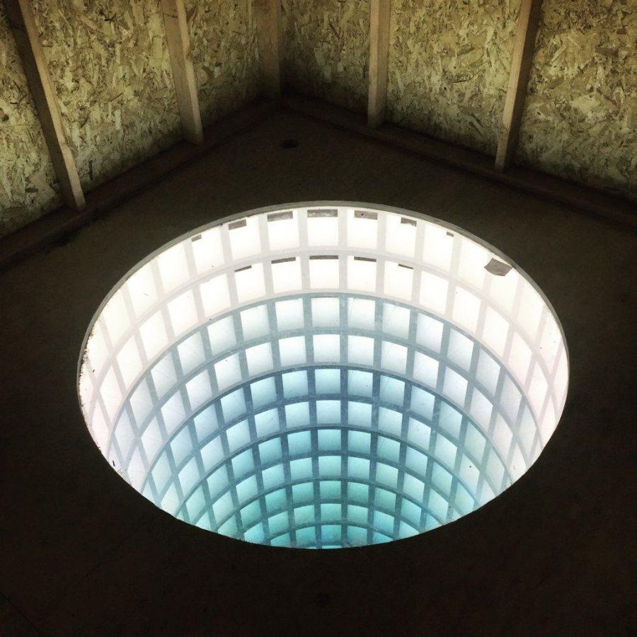 A photo of Glenn Kaino's sculpture 'Hollow Earth'