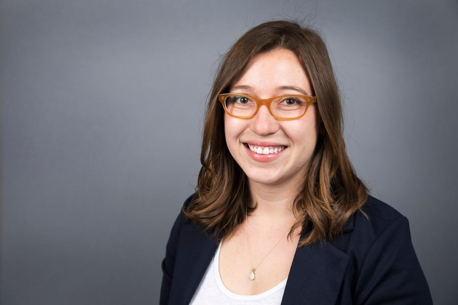 Geneva Laurita, assistant professor of chemistry and biochemistry, studies the relationships between structure and properties in solid-state materials. (Theophil Syslo/Bates College)