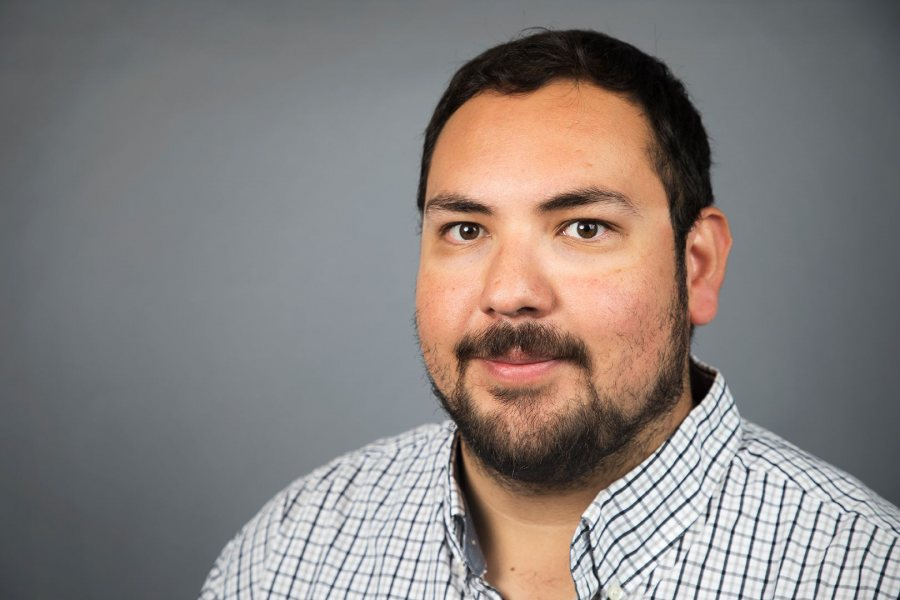 Lecturer in English and a Mellon Diversity and Faculty Renewal Postdoctoral Fellow at Bates, José Villagrana studies early modern literature of England and Spain. (Theophil Syslo/Bates College)