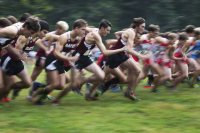Men's cross country hosted and won the Bates Invitational vs. Tufts, WPI, and Southern Maine at Pineland Farms in New Gloucester. (Theophil Syslo/Bates College)