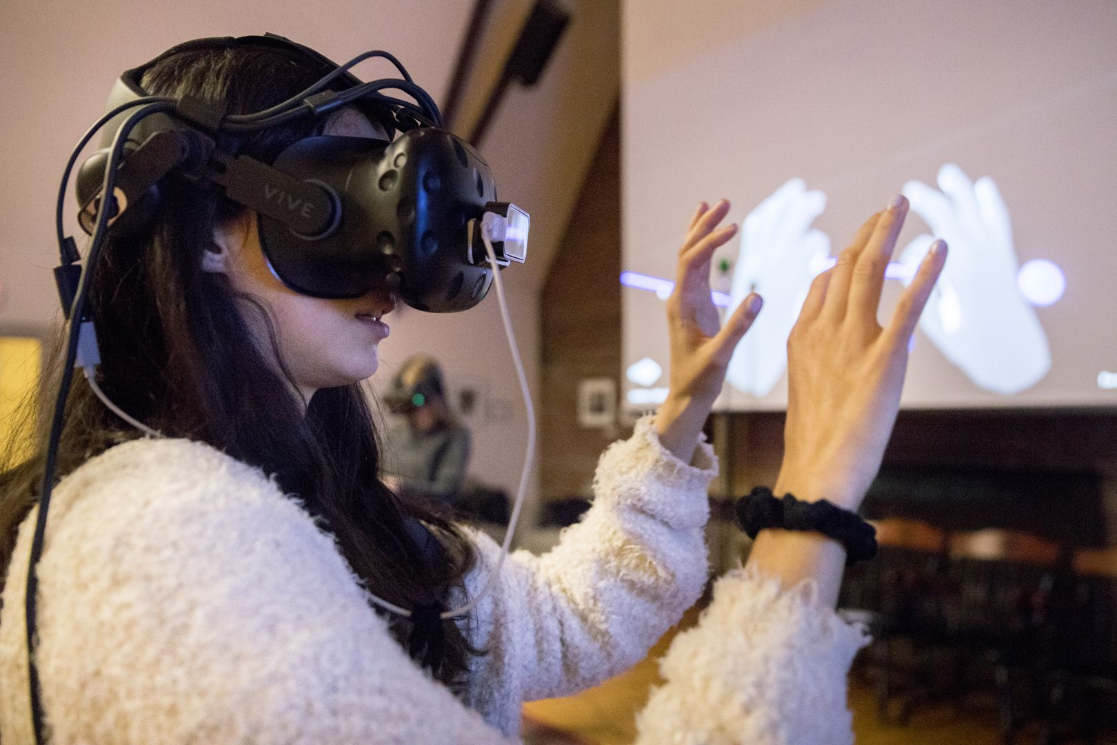 In Muskie Archives, a virtual reality system that teaches geometry