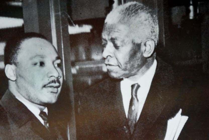 Benjamin Mays (right) with Martin Luther King Jr.