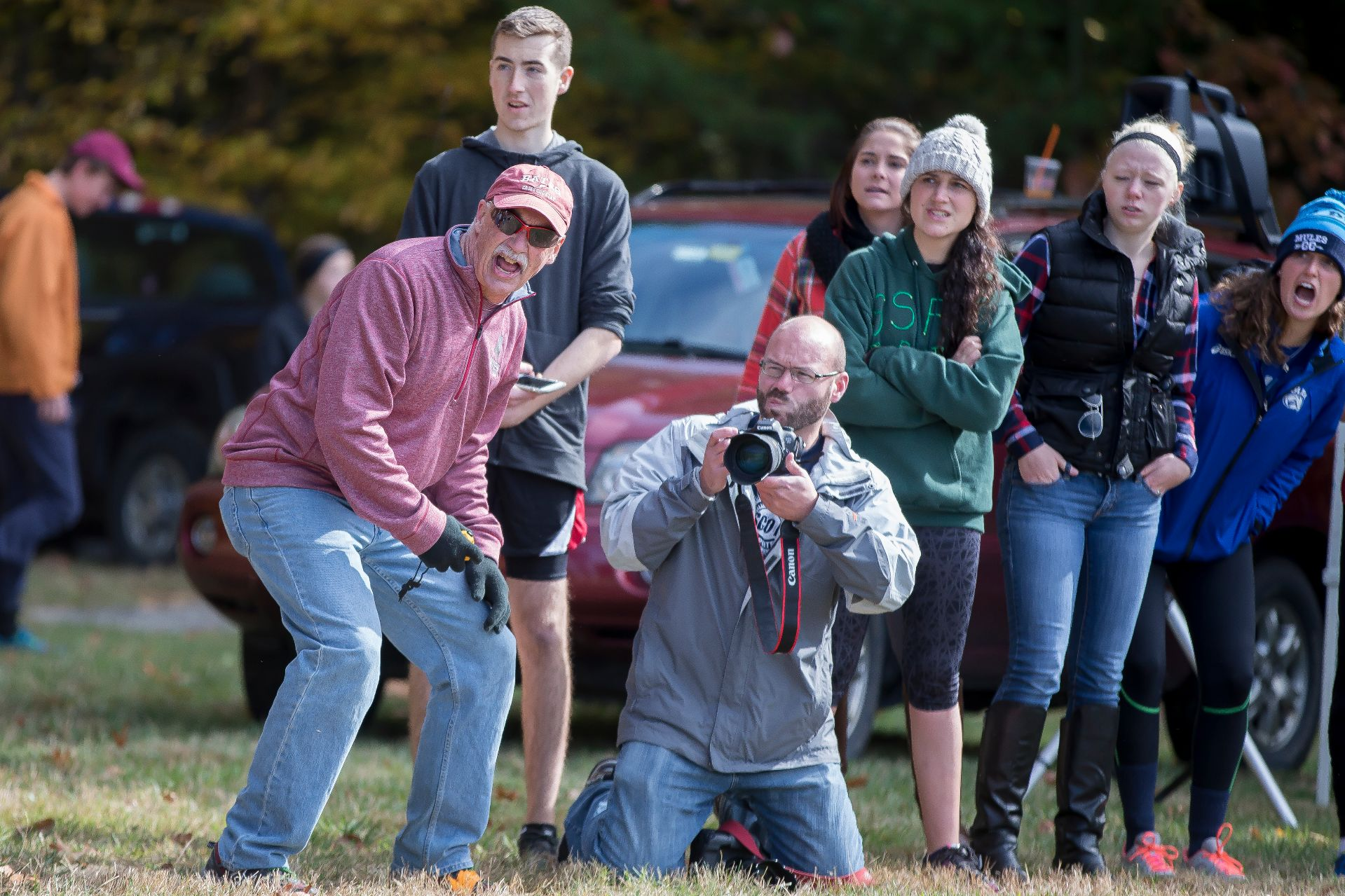 NEW GLOUCESTER, Maine -- First-year phenom James Jones won the individual title as the Bates men's cross country team placed second out of 10 teams Saturday at the Maine State Championship.Jones (Colorado Springs, Colo.) outkicked Colby junior David Chelimo to the finish line, finishing Bates' home 8-kilometer course at Pineland Farms in 25:17.3 to Chelimo's 25:20.2, two of the fastest times ever run on the course. Chelimo placed 10th at the 2015 NCAA Championship meet. Jones's time is the third-fastest ever run on the course, and the fastest by a Bates runner by a 36-second margin over alumni Mike Martin and two-time All-American Tully Hannan.Jones becomes the 18th Bates runner to win the state individual title since the men's meet began in 1968, and the first since John Stansel in 2014.No. 16 nationally ranked Colby, the runner-up to Bates a year ago, won its first state meet title since 1993, and its third all-time. The Mules scored 28 points, followed by Bates (45), Bowdoin (49), Southern Maine (131), UMaine-Farmington (165), Thomas (202), Maine Maritime (209), St. Joseph's (209), UMaine-Presque Isle (235) and Unity (304).Senior captain Evan Ferguson-Hull (West Hartford, Conn.) earned his second consecutive all-state (top seven) honors, placing seventh out of 122 men in 25:38.3, Bates' second-fastest time ever recorded at Pineland.With each team's top five runners scoring, rounding out Bates' scoring were senior captain Joe Doyle (Glastonbury, Conn.) in 11th (26:01.4), junior Ben Tonelli (Seattle, Wash.) in 12th (26:04.0) and junior Zach Magin (West Hartford, Conn.) in 14th (26:04.0). Senior Nick Orlando (Milton, Mass.) in 15th (26:09.0) and junior Matt Morris (Rockville, Md.) in 16th (26:13.9) were Bates' displacers. Three additional Bobcats finished among the top 20 individuals: junior Stephen Rowe (Gambier, Ohio) in 17th (26:23.7), senior captain Michael Horowicz (Montclair, N.J.) in 18th (26:27.7) and junior Jack Kiely (Severna Park, Md.) in 20th