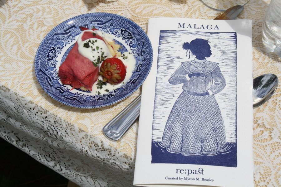 """Held on Malaga Island off the Maine coast on July 12, the performative dinner """"re:past"""" was created by Myron Beasley, professor of African American and American cultural studies. (Jop Blom)"""