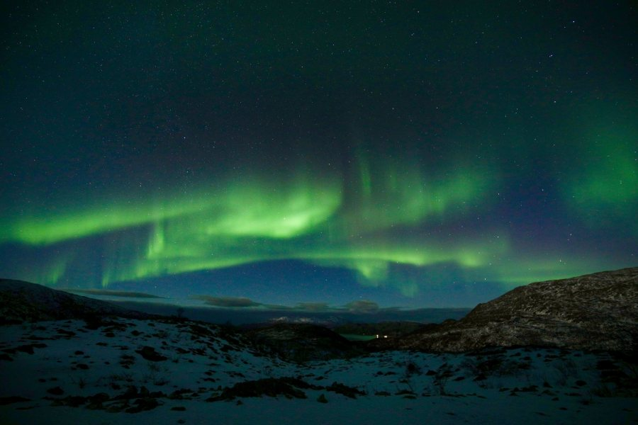 Chang, Lillian DIS Fall 2018This photo was taken in Tromso, Norway. In order to see the Northern Lights we had to drive over an hour out of the city to escape the light pollution. Luckily it was worth it. This photo was selected for the 2019 Barlow Off-Campus Photography Exhibition and shown at the 2019 Mount David Summit on March 29, 2019.