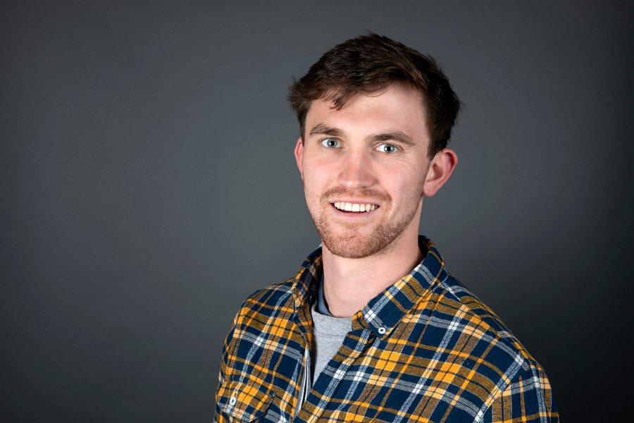 Sam Holmes '19 of Middlebury, Vt., an English major, was offered a Fulbright English Teaching Assistant award for Spain. (Grace Link '19 for Bates College)