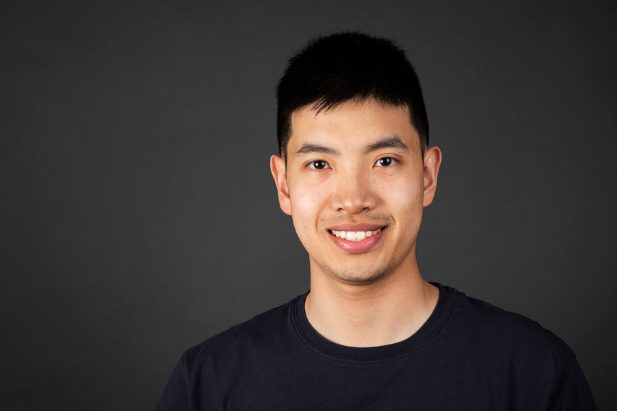 Andrew Chen '19 of Wayland, Mass., a double major in neuroscience and Spanish, was offered a Fulbright research grant for Spain. (Theophil Syslo/Bates College)