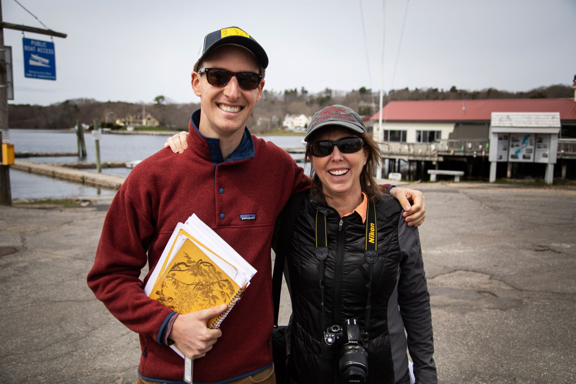 Bates students visit Damariscotta to meet with the town manager and talk about sea level rise and climate change impacts while participating in Lynne Lewis and Francis Eanes short term course 'In Search of Higher Ground' on May 1, 2019. In Search of Higher Ground: Sea Level Rise, Coastal Flooding and the Future of the Eastern Seaboard Climate change, increased storm frequency and intensity, and sea level rise have created an urgent need for adaptation planning for many communities along the U.S. eastern seaboard. In this course students examine adaptation strategies and vulnerability assessments with a goal of understanding social and economic vulnerability and the complexities of coastal retreat. Utilizing climate adaptation planning tools, mapping technology, and on the ground observation, students examine adaptation strategies including managed retreat, buyouts, living shorelines, and and green infrastructure. Students consider the current and future role of FEMAís national flood insurance program as a major mechanism for incentivizing resilient or reckless coastal development. Based in experiential learning, students engage in discussions with experts, practitioners, and residents in highly vulnerable coastal areas in Maine, as well a ten-day trip to coastal communities in Virginia and North Carolina. Recommended background: ECON 250 or other statistics course. Prerequisite(s): ECON 101 or 222, or ENVR 209. New course beginning Short Term 2019. 1.000 Credit hours