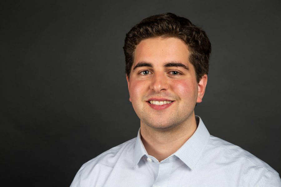 Matthew Bodwell '18 of Concord, N.H., a double major in German and politics, was offered an English Teaching Assistant award for Germany. (Theophil Syslo/Bates College)