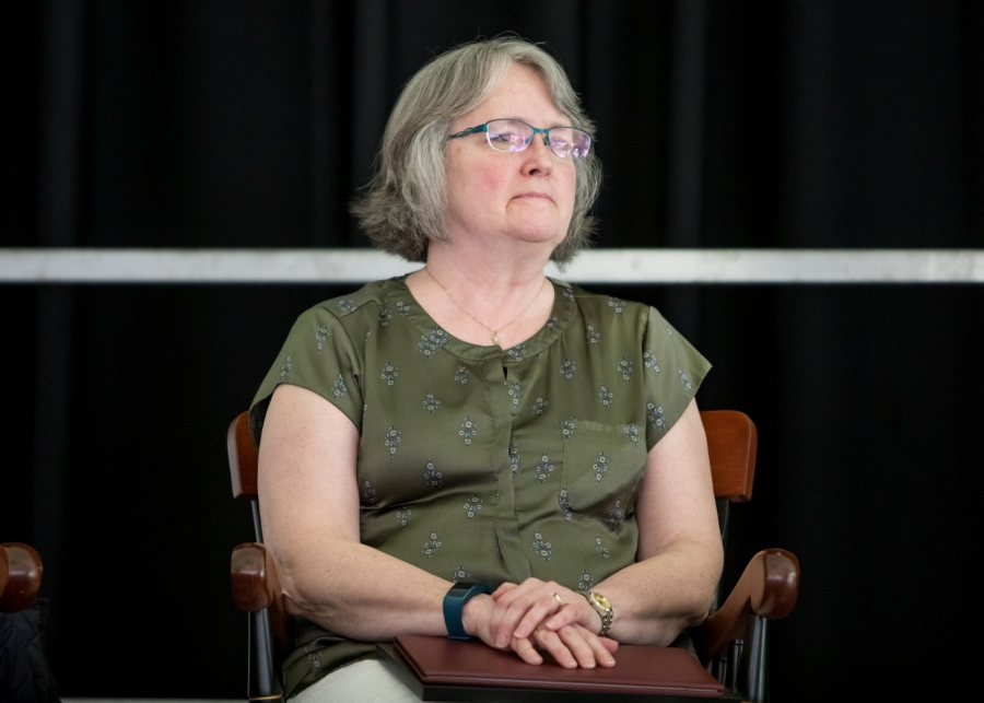Patricia Sullivan Doyle '79 received the Alumni Community Service Award at Reunion 2019. (Rene Roy for Bates College)