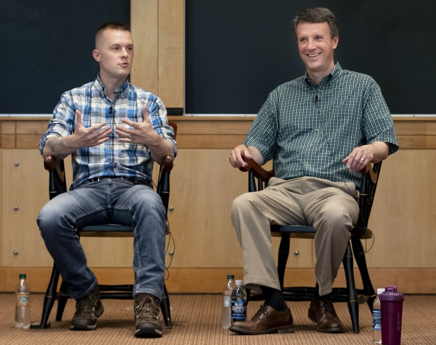 1:30–2:30pmBates Alumni in CongressRepresentatives Ben Cline '94 and Jared Golden '11 will engage in a discussion about how their Bates experiences shaped their careers and road to the United States House of Representatives. Associate Professor of Politics John Baughman and Associate Professor and Chair of the Department of Rhetoric, Film, and Screen Studies Stephanie Kelley-Romano will moderate a conversation examining their year as members of the congressional freshman class of 2019.Pettengill Hall, Keck Classroom (G52)