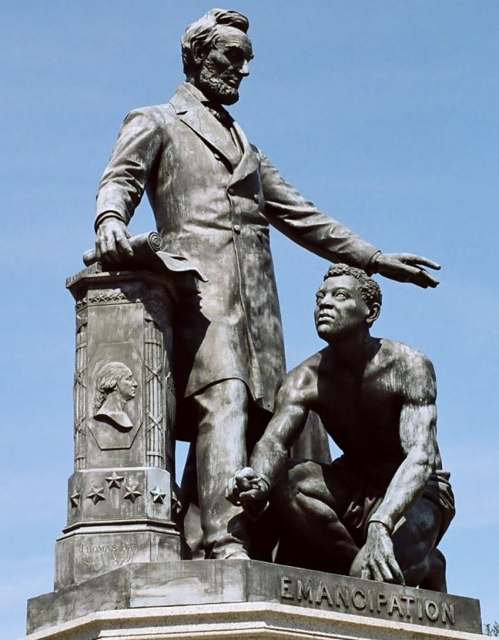 """The Emancipation Memorial in Washington, D.C., embodies the complex definition of """"emancipation"""" in U.S. society, says Charles Nero, the Benjamin Mays Professor (Photo by yeowatzup [CC BY 2.0 (https://creativecommons.org/licenses/by/2.0)])"""