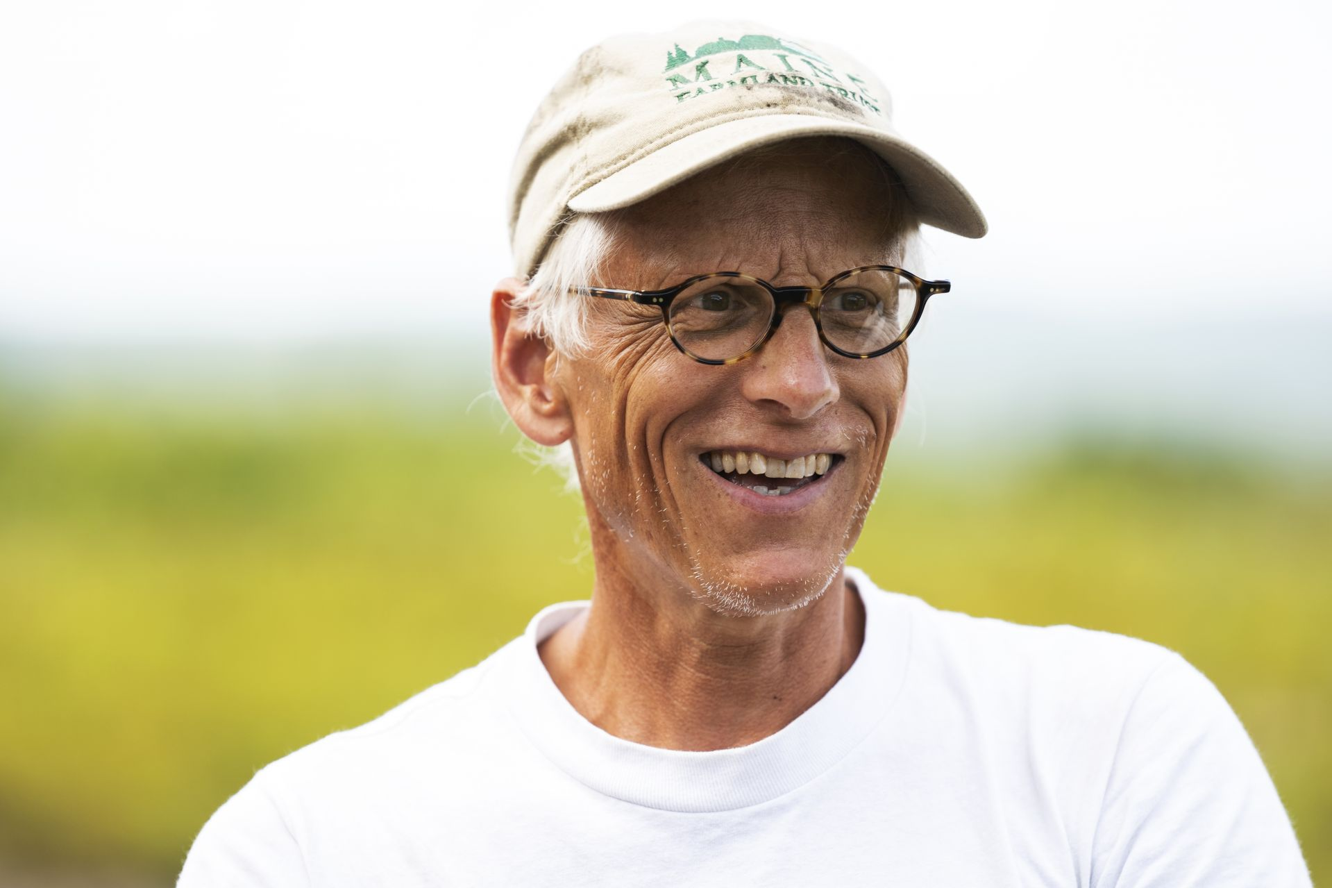 Nick Lindholm Ô86, Organic blueberry farmer at Blue Hill Berry Co., run by Nicolas and wife Ruth Fiske, centered in the heart of the Blue Hill peninsula, settled in 1996, works on his farm on August 1, 2019.