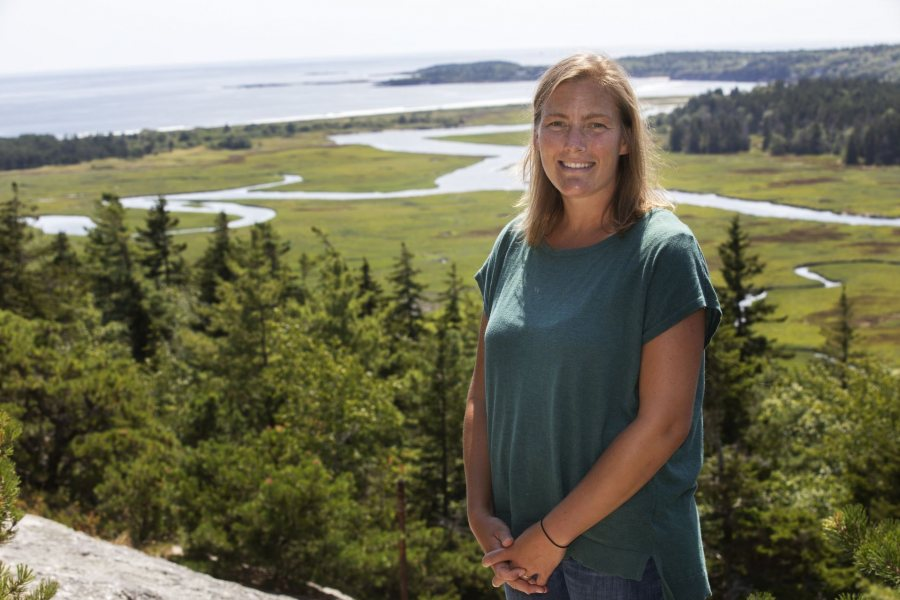 Caitlin Cleaver, director of Bates Morse Mountain Conservation Area & Shortridge Coastal Center poses for portraits at Bates Morse Mountain on August 15, 2019.