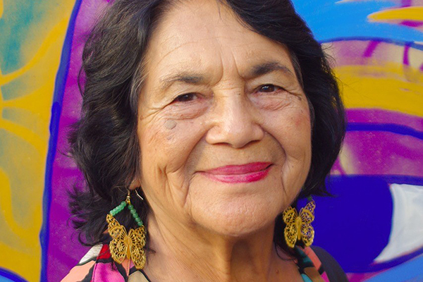 Dolores Huerta, an influential labor activist and civil rights leader, offers the annual Convocation address and receives an honorary degree on Sept. 3.