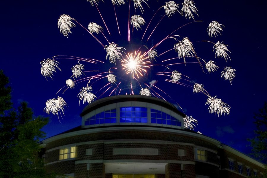 Reunion 2019 Fireworks over Pettengill Hall