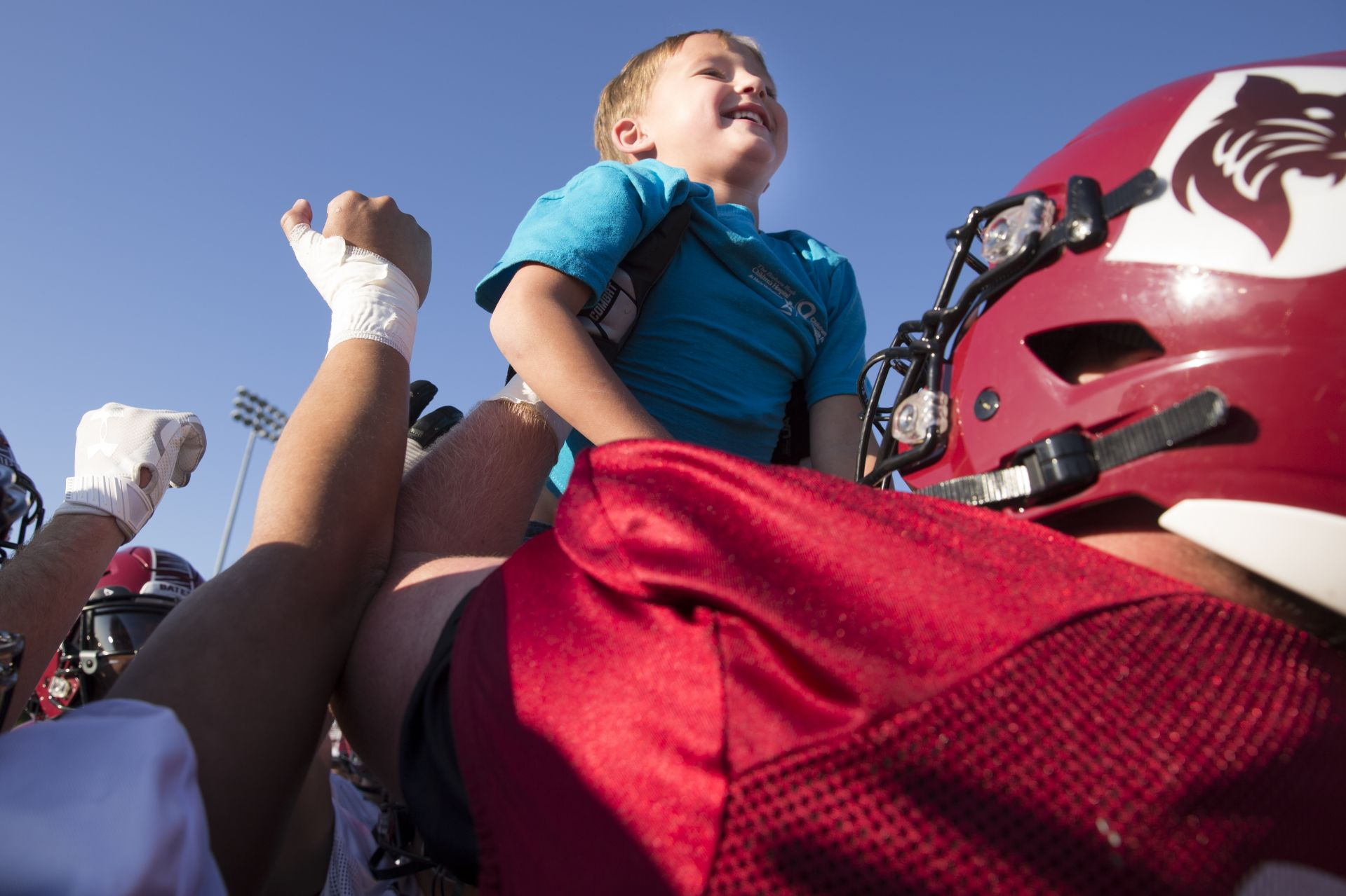 For Bates football, 6-year-old Brayden Austin is their captain courageous