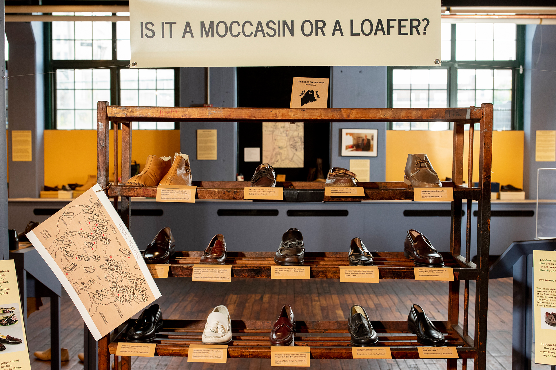 Moccasins and loafers were distinctively Maine shoes in the industry's heyday. (Phyllis Graber Jensen/Bates College)