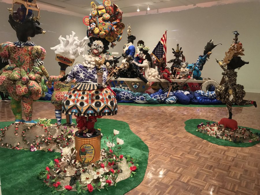 "Vanessa German, ""Miracles and Glory Abound"" (2019), mixed-media installation at the Flint Institute of Arts, Flint, Mich. (Dan Mills/Bates College)"