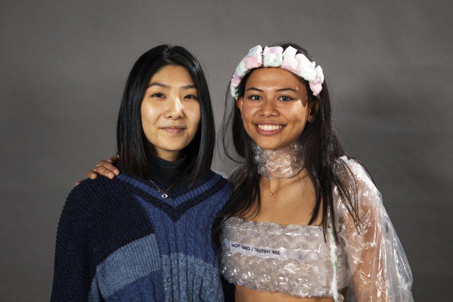 Danielle Meng '20 (left) and Claire Deplanck '20.