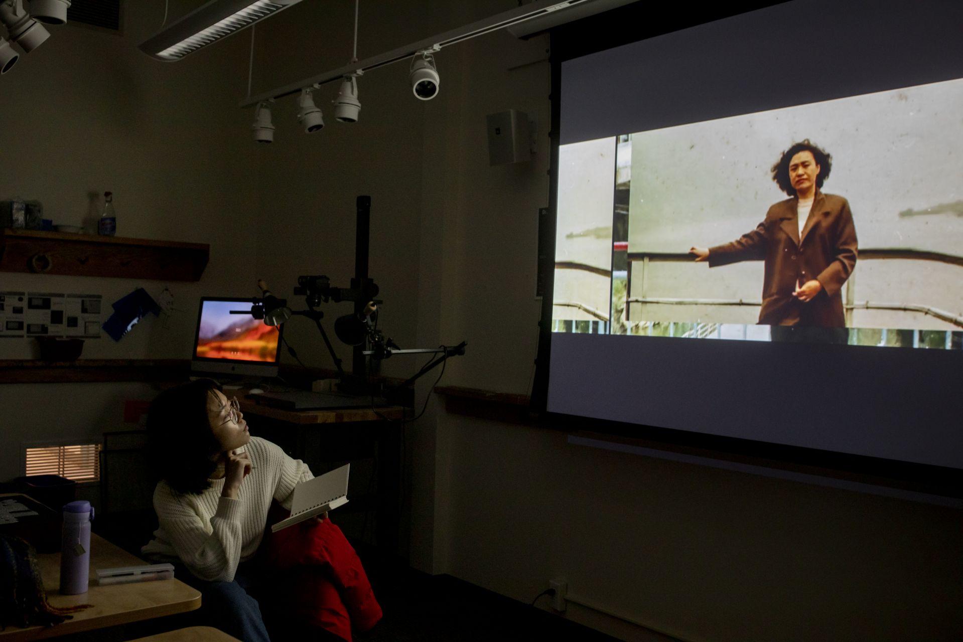 Olin Arts Center Carolina Gonzalez Valencia's experimental animation class
