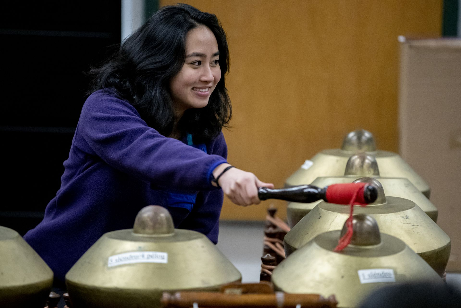 Olin Arts Center Gina Fatone with Gamelan Rehearsal
