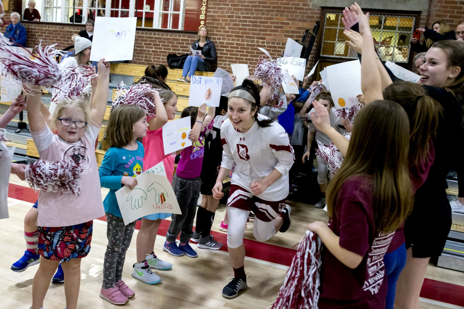 National Girls and Women in Sports Day held in the Gray Cage followed by the women's basketball game vs. Trinity in Alumni GymRegistration begins at 12:30 pm in Alumni Gym lobby, and then the free sports clinics for girls ages 5 and up will take place in Gray Cage from 1-3. The plan is to have a large group warm up, then stations where student-athletes and coaches from various teams will have an activity related to their sport. I know last year rowing brought down some rowing machines, field hockey had a shooting into a goal station, things like that. There will also be a poster making station for the basketball game. In addition, the plan is to have time for the girls to get autographs from the women's basketball team prior to the game. The girls and their families are encouraged to attend the women's basketball game at 3 PM in Alumni Gym as the ending to the day!