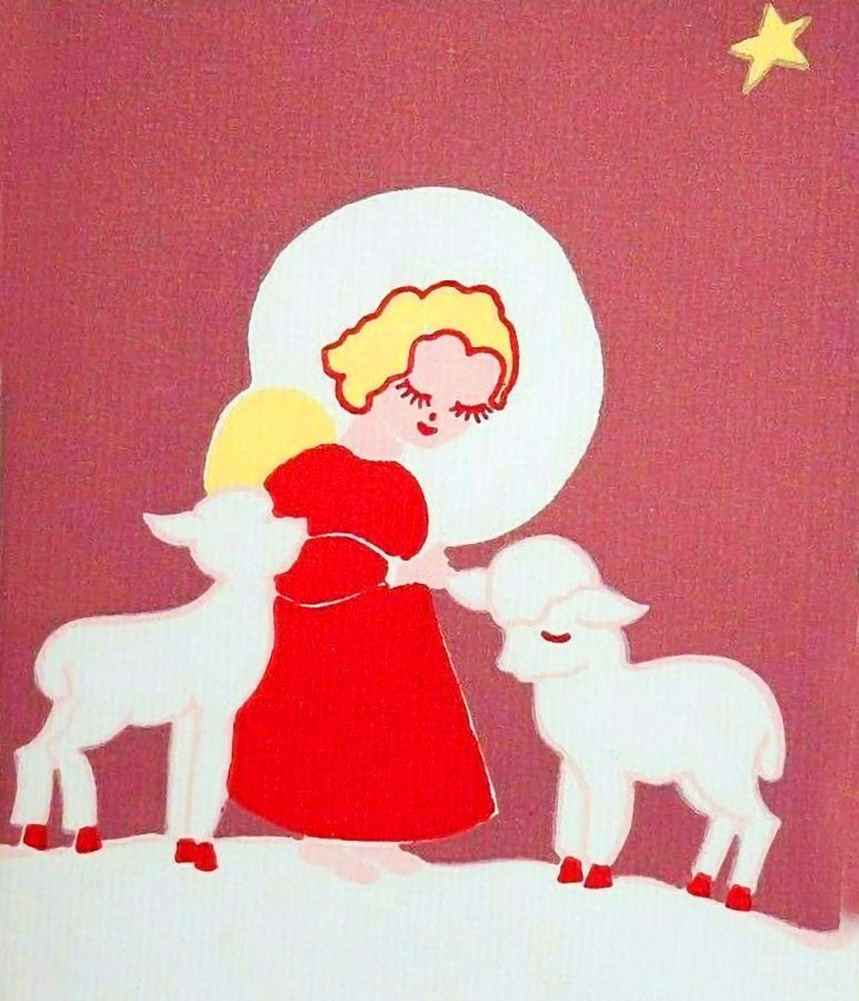 A holiday card by Workshop Cards and Priscilla Lunderville, Class of 1926