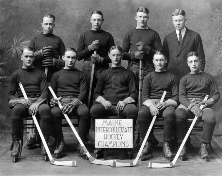 Bates was quarantined for most of February 1923 due to scarlet fever and all activities halted — except varsity hockey, which was able to take the state championships. (Muskie Archives and Special Collections Library)