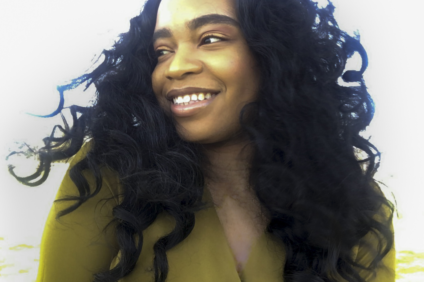 Alexandria Onuoha '20, senior class Commencement speaker, a psychology and dance double major from Malden, Mass., poses for a FaceTime portrait in a park near her home.